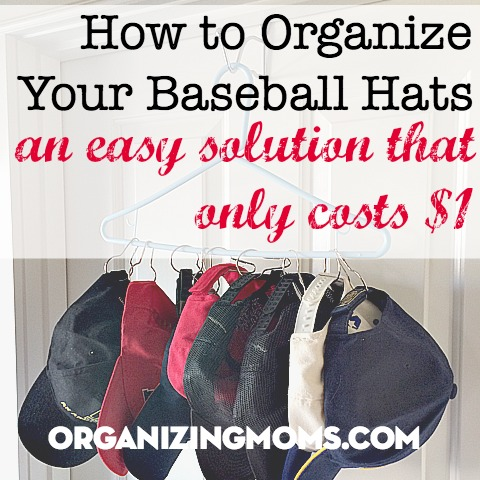 Organize your baseball hats for only a dollar