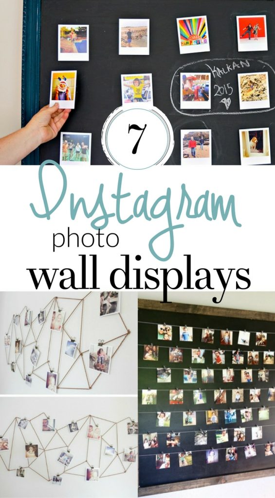 Make one of these DIY Instagram Wall Displays and get some of those photos out of your phone and into your home!