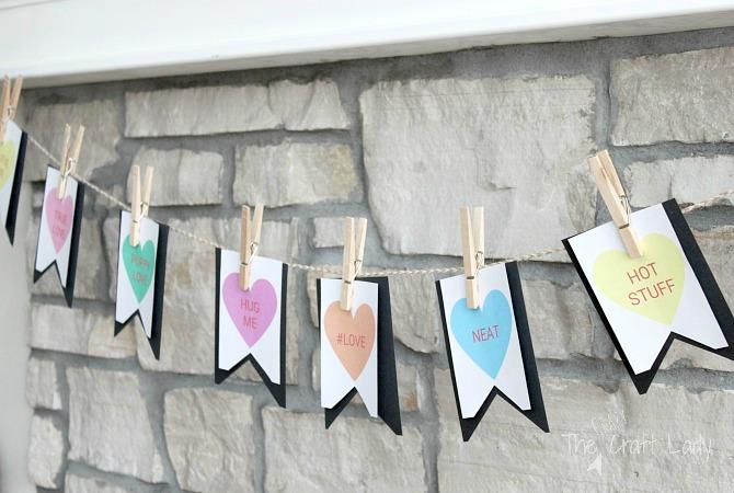 Conversation Heart Banner for Valentine's Day