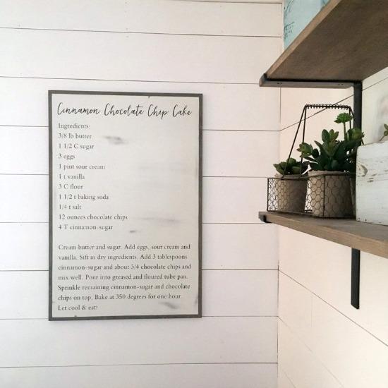 Custom Family Recipe Sign