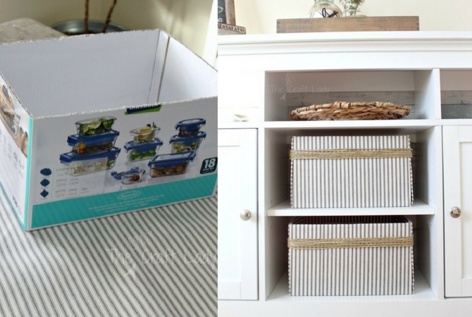 DIY Fabric Covered Storage Boxes