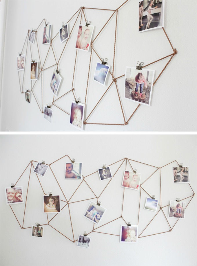 DIY Geometric Photo Display