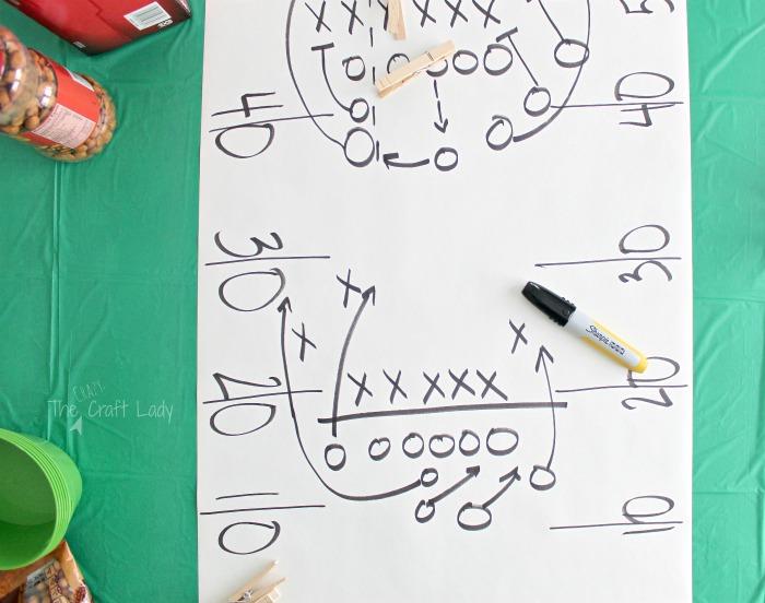 DIY football table cloth