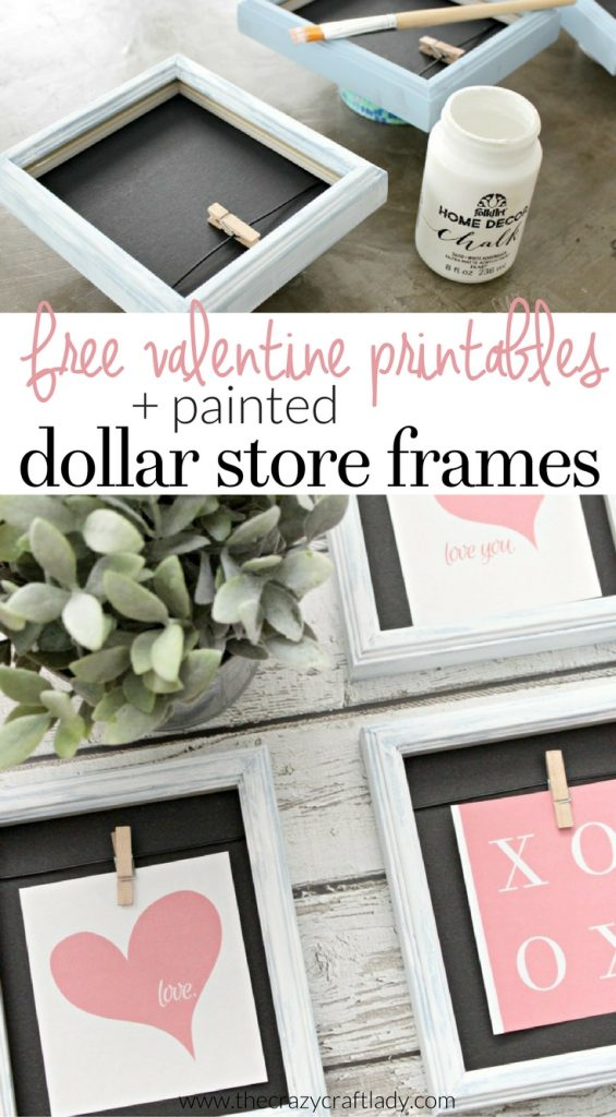 See how to make this Dollar Store Valentine Craft and download a FREE Printable