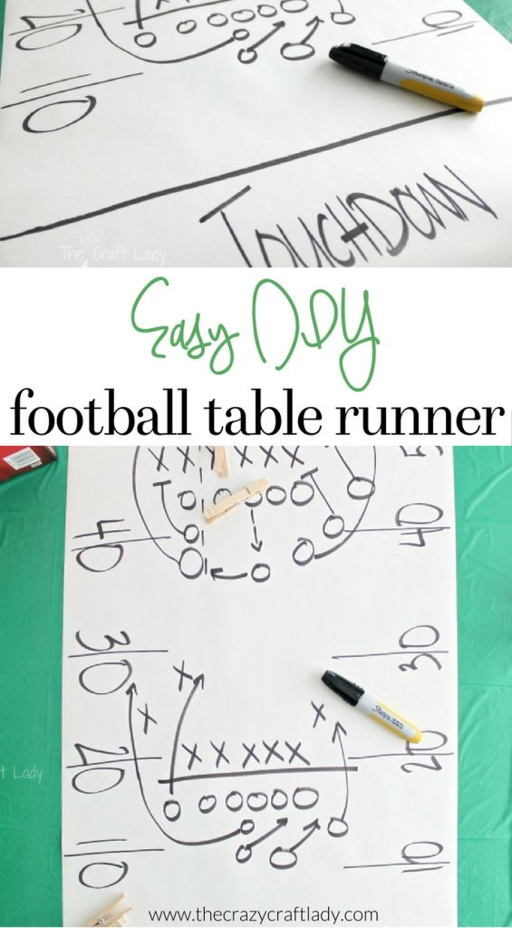make this easy DIY Football Play Table Runner