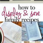 How to Display and Save Family Recipe Cards