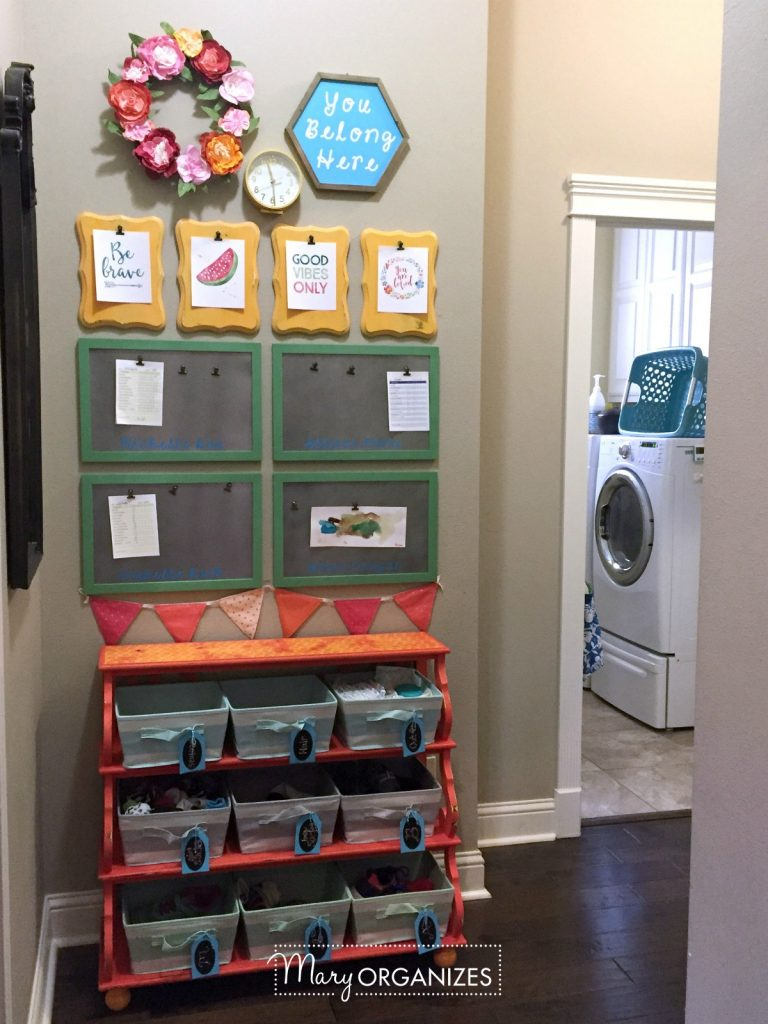 Kids Command Center for Chore Lists and Artwork