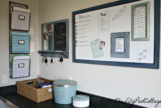 laundry room family command center