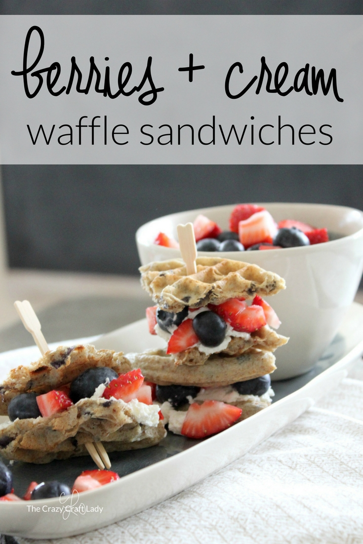 Whip up these delicious mini Berry Waffle Sandwiches for the perfect go-to snack or easy breakfast solution. Save time on busy mornings with these quick breakfast sandwiches that your whole family will gobble up!