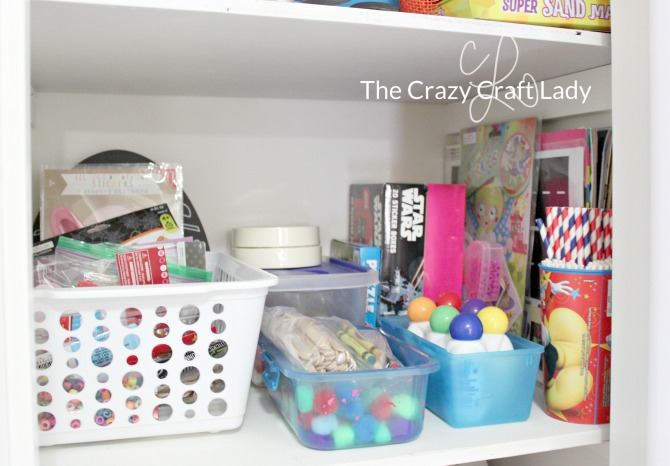 Make a Craft Supply Stash - Come see how one mom was able to simply and inexpensively organize kids craft supplies in her home. Follow these tips for organizing success.