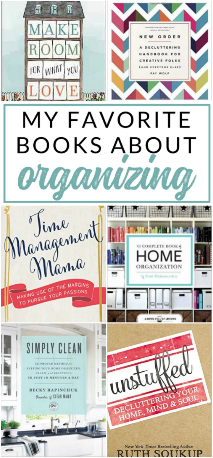 These are my absolute favorite Home Organizing Books - Recommended reading to help you get organized and declutter your life and home!