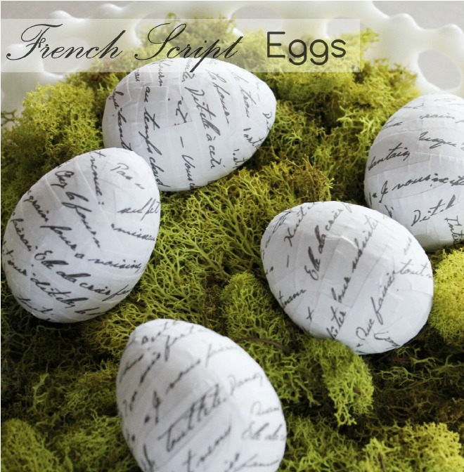 Beautiful Easter Eggs you Need to Try this Spring - DIY French Script Easter Eggs