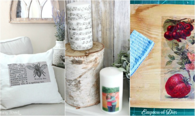 DIY Image Transfer Tutorials- I'm always on the hunt for new craft ideas. Check out some of these amazing craft ideas and craft projects that are on my crafting radar right now!