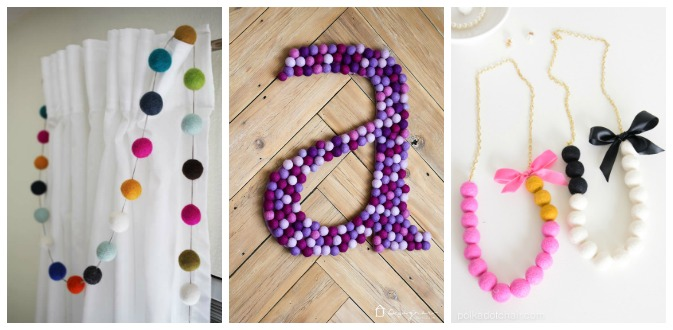 Fun Craft Projects Using Felt Balls - I'm always on the hunt for new craft ideas. Check out some of these amazing craft ideas and craft projects that are on my crafting radar right now!