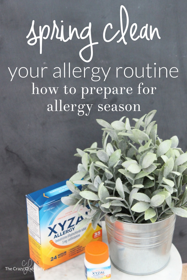 Get ready for spring allergies with these Spring Cleaning tips to help you get organized and stay ahead of allergy symptoms