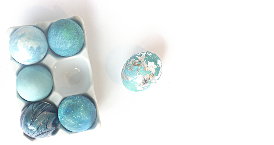 Beautiful Easter Eggs you Need to Try this Spring - Metal Leaf Easter Eggs