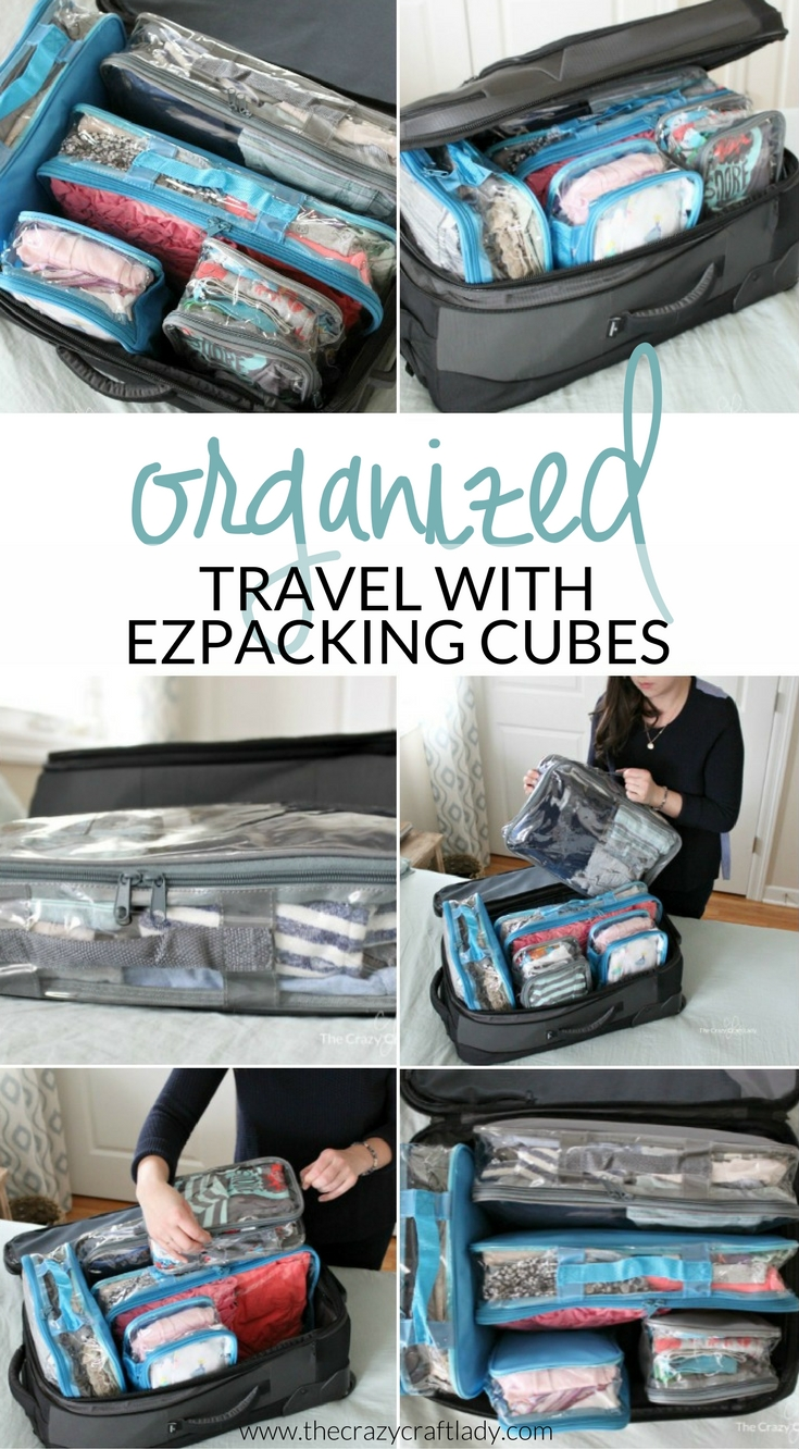 Learn how to pack efficiently and stay organized when you travel using packing cubes. PLUS tips for organized travel with kids!