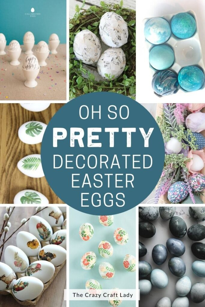 Pretty Decorated Easter Eggs