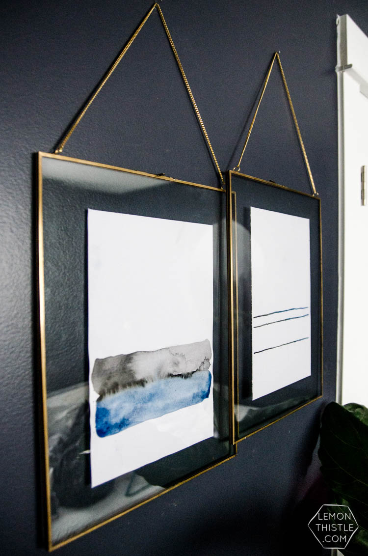 Check out these simple art projects and fill your walls with style! These creative and inexpensive DIY wall decor projects are so easy to make. Try one out this weekend! Large wall art - DIY wall art - farmhouse wall art - make your own wall art