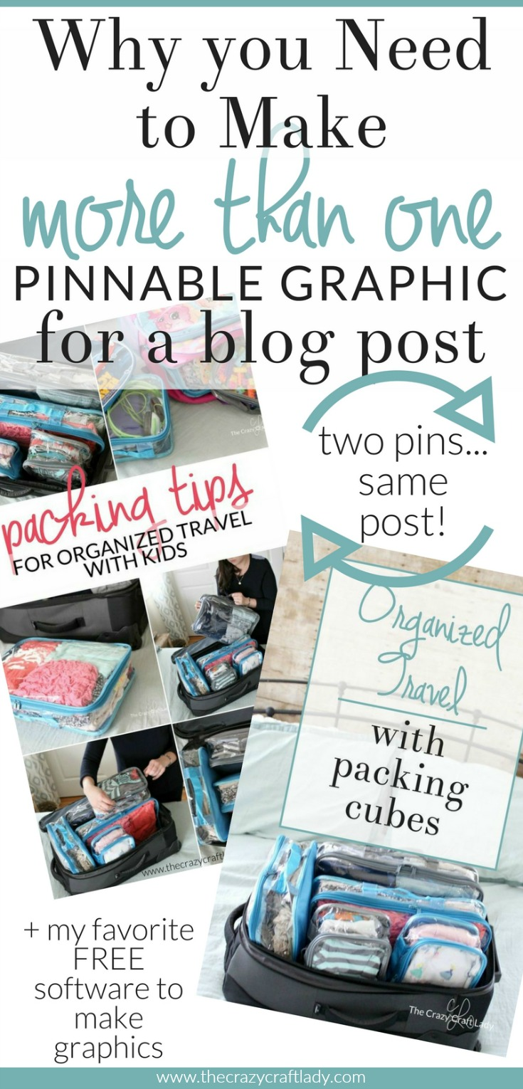 Are you making multiple pinnable images for each blog post? Come see why you should... and my favorite way to save time creating graphics and collages!