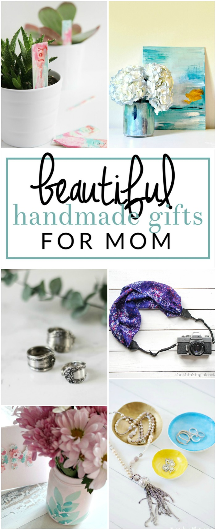 Make one of these special gifts for mom .  These are 13 of my favorite handmade gift ideas for mom on Mother's Day, birthday, Christmas, or just because!
