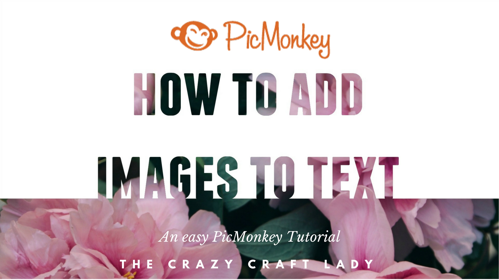 Follow this simple video tutorial and learn how to easily place an image in text - for FREE - using PicMonkey. See how to quickly add images to text and create printables with endless design possibilities.