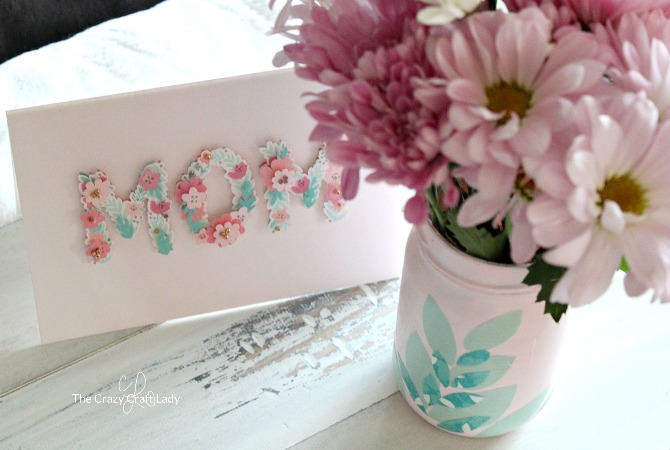 How cute is this Mother's Day Idea?! Make a customized DIY Decoupage Mother's Day Vase that is inspired by and coordinates with your favorite Hallmark Mother's Day Card!