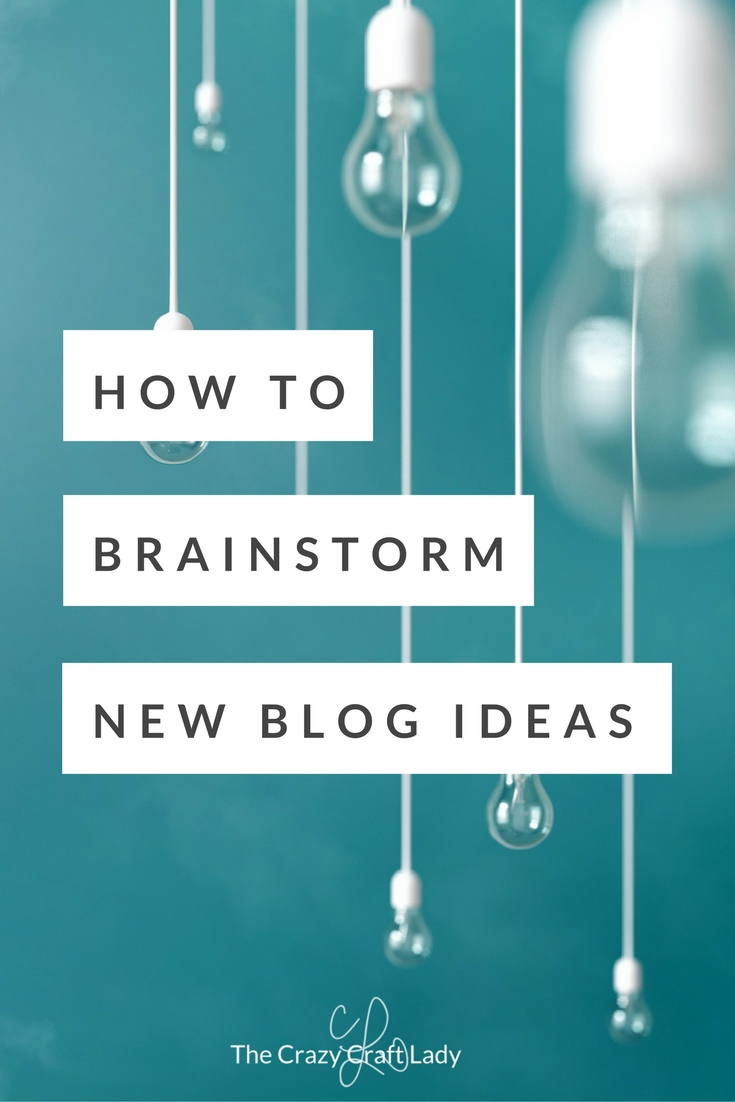 Give one of these simple activities a try the next time you're in a rut. Try an exercise for creative inspiration and brainstorm new ideas for your next blog post, product, article, or other creative endeavor!