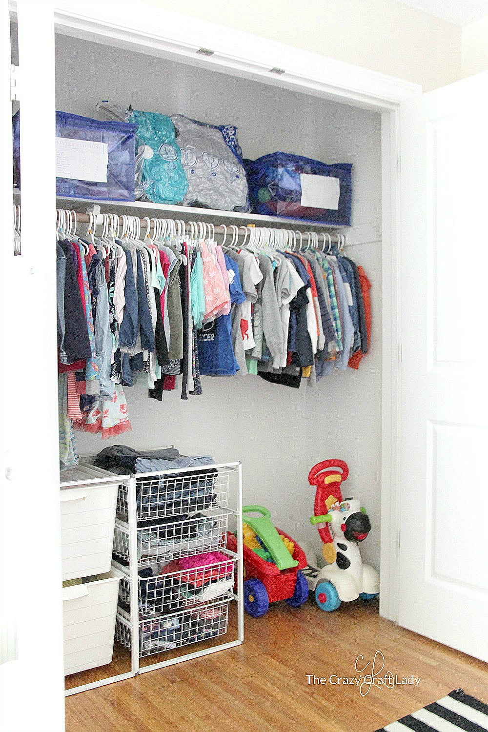 Sort, store, and label your children's winter clothing and gear using Space Bags and Totes for a perfectly organized closet. Keep all of that winter gear in one place, and know what sizes you have or will need for next season.
