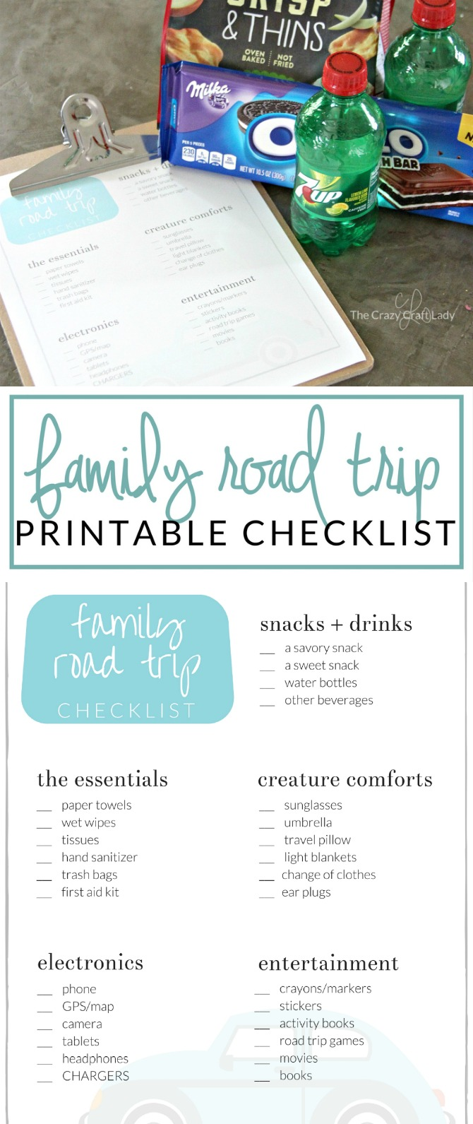 Taking a road trip with the family? Download and print this road trip checklist, so you're fully prepared and ready for anything on your next family vacation. Tips for what to pack in the car and a FREE printable.
