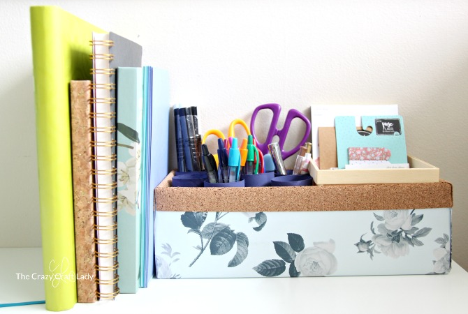 Follow this tutorial to make a simple upcycled desktop pen organizer. Keep your desk clear, with office supplies organized and handy.