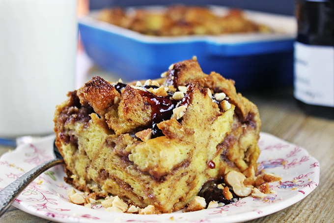 PB&J Recipes - so much more than just sandwiches! PB&J Uncrustables AND French Toast Bake in One