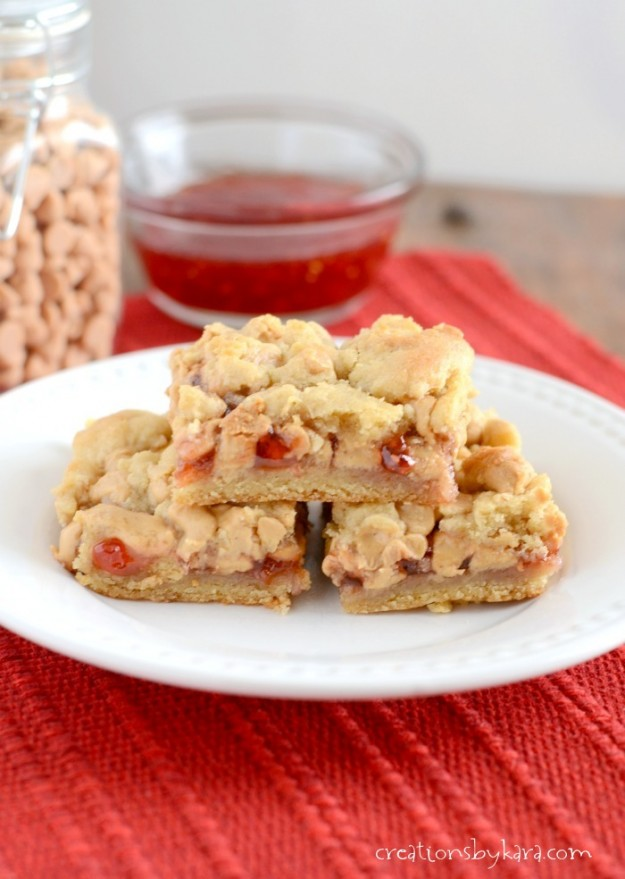 PB&J Recipes - so much more than just sandwiches! Peanut butter & jelly bars