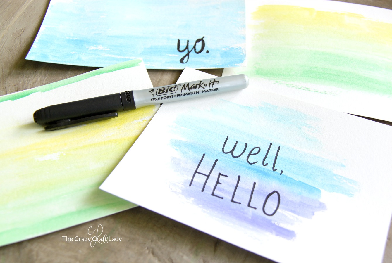 """Make your own watercolor cards with quotes - perfect for making custom holiday or birthday cards, or just to send a note """"because."""""""