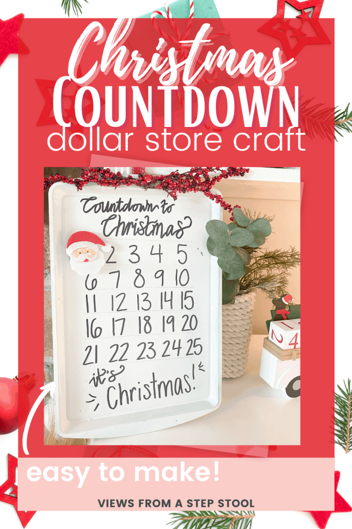 Cookie Sheet Christmas Countdown Dollar Store Craft