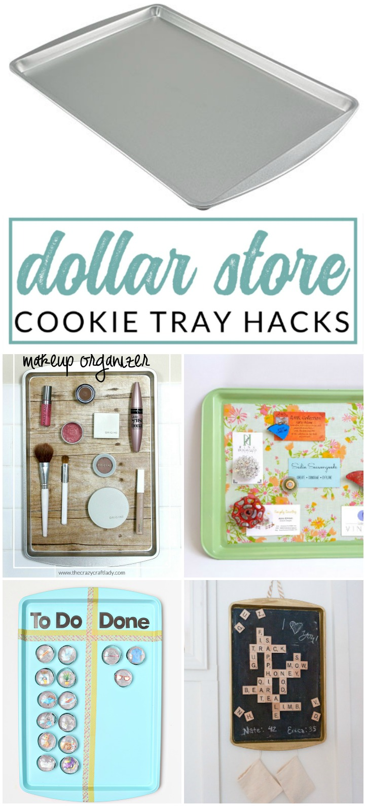 Genius Decorative Magnetic Boards made from Dollar Store Cookie Sheets - baking sheet crafts