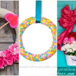 You may not believe it, but these valentine wreath ideas all use supplies from the Dollar Store! Grab some ribbon, flowers, felt, yarn, or tulle and make one of these DIY wreaths.