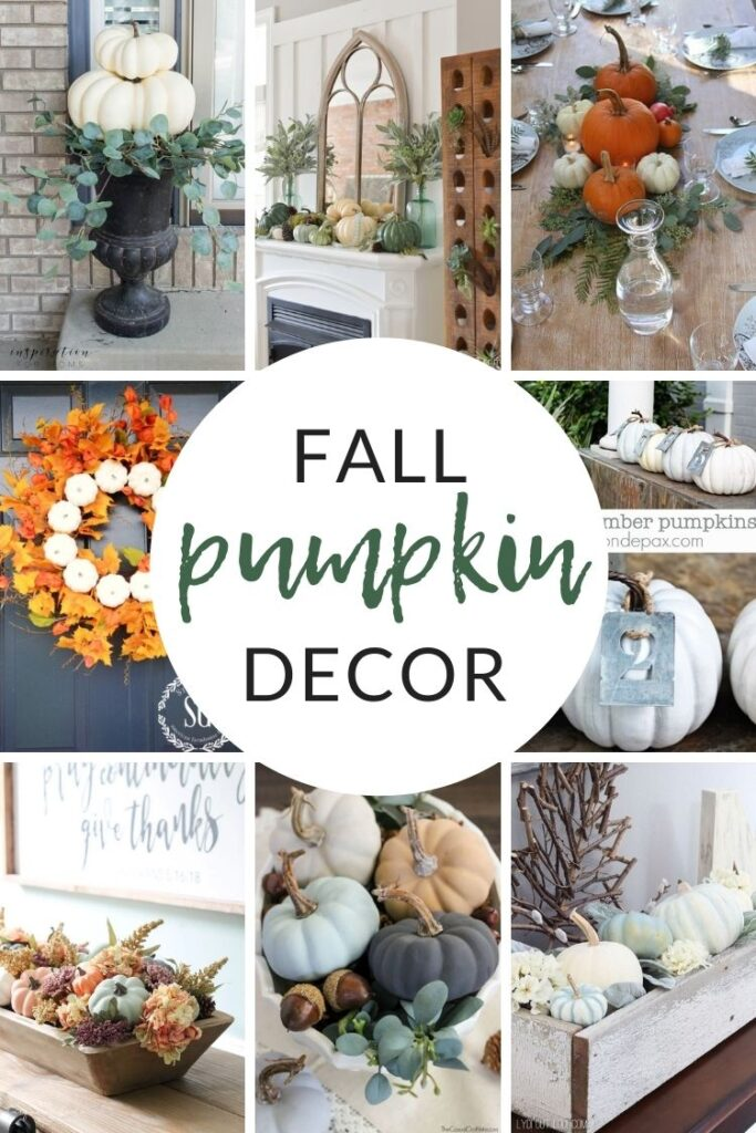 Decorating with Pumpkins - Fall Pumpkin Decor and Inspiration