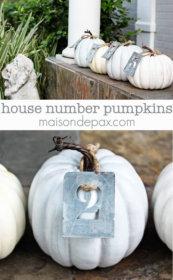 House Number Pumpkins