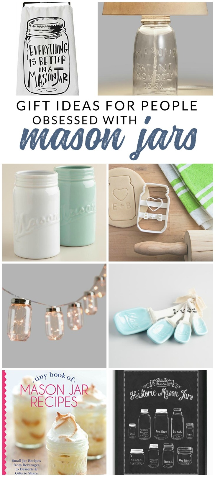 Ultimate Gift Guide For Mason Jar Lovers Accessories Decor And Books The Crazy Craft Lady
