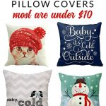 Shop affordable winter pillow covers of all styles – these budget friendly buys are perfect for changing your home decor for winter. Fun and whimsical winter decorating.