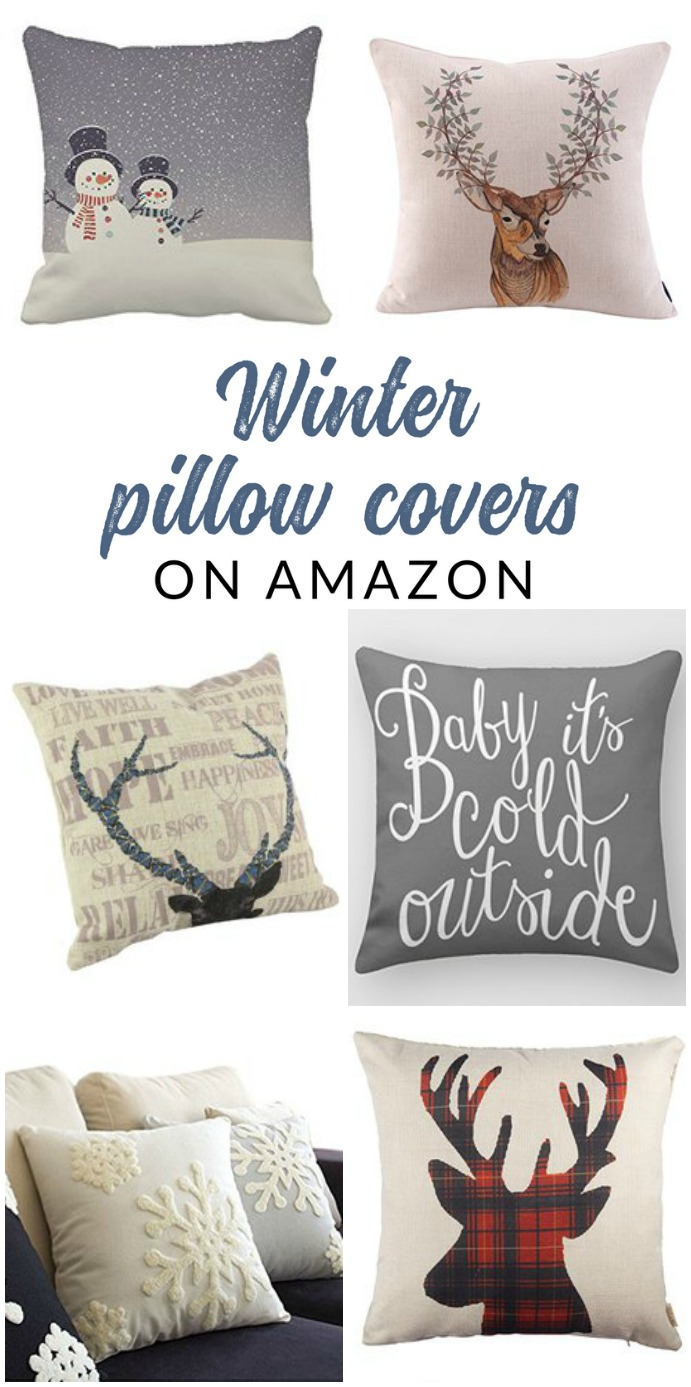 Shop affordable winter throw pillows and pillow covers of all styles – these budget friendly buys are perfect for changing your home decor for winter.