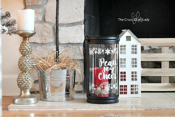 Christmas Lanterns: Come tour this cozy family room with tips for simple, budget-friendly classic Christmas decorating. Easy Christmas farmhouse decor ideas and Christmas home tour.