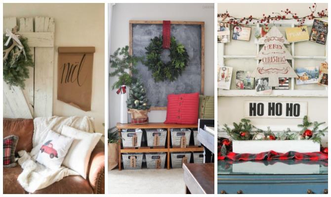 Deck The Walls 14 Inspiring Diy Christmas Wall Decor Ideas The Crazy Craft Lady