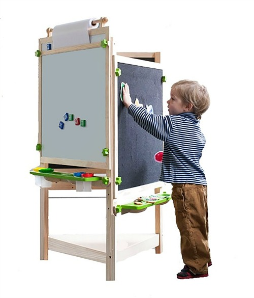 Find the best art table, desk, or easel and create a kids art center where creativity can thrive. Keep kids art supplies organized and deign an art space for your child.