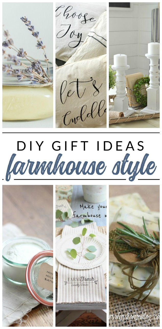 Give a gorgeous handmade gift with one of these DIY farmhouse gifts. 10 beautiful homemade gift ideas with farmhouse style.
