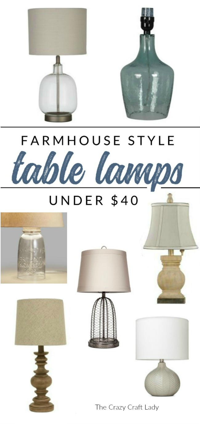 Shop these farmhouse lamps -they're all under $40. Find farmhouse style table lamps on a budget, without sacrificing style!
