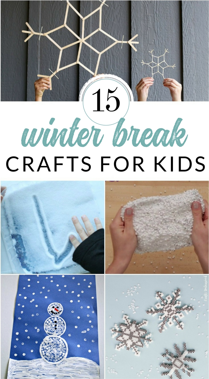 Keep the kids entertained and with these creative craft ideas. They make perfect snow day or winter break boredom busters. Winter crafts and creative projects for kids of all ages.