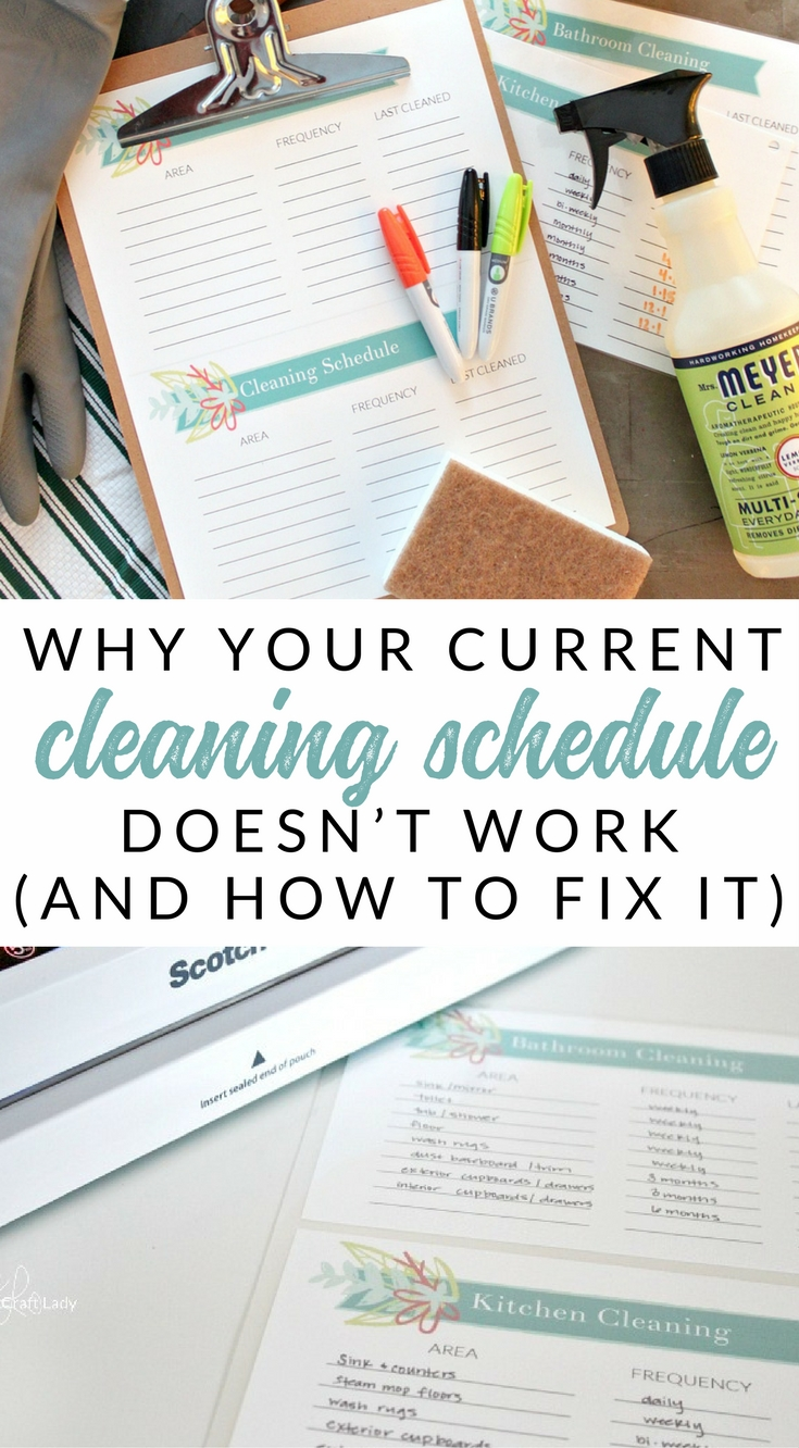 This is the last printable cleaning schedule that you will ever need. Why many cleaning checklists and weekly schedules fail, and how to create an easy and realistic cleaning plan for your home.