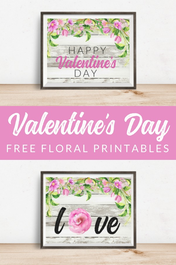 This FREE Floral Valentine Printable Pack is perfect for your holiday decor and gallery walls. 9 free farmhouse style Valentine printables that feel just a bit like spring.